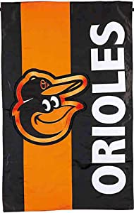Rico Industries, Inc. Baltimore Orioles Embellished Premium 2-Sided Garden Flag Applique Embroidered Outdoor House Banner Baseball