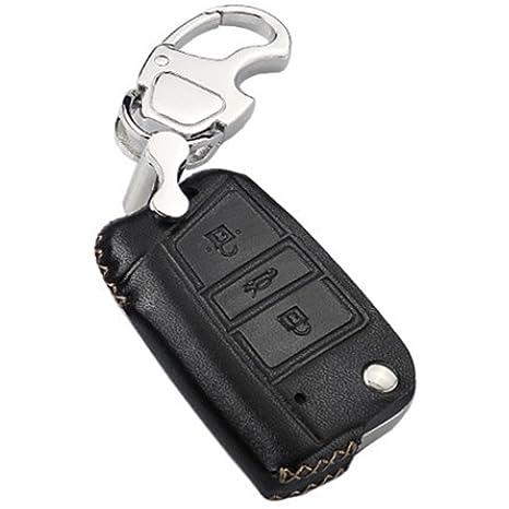 KMT funda de piel llavero mando de coche soporte de cuero ...