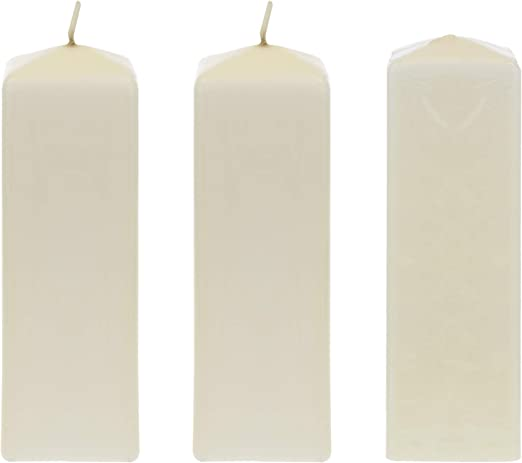 Birthdays Economical One Time Use Event Wax Candles 2 x 9 Celebrations Churches /& More For Wedding Receptions Party Florists Mega Candles 6 pcs Unscented White Dome Top Pillar Candle