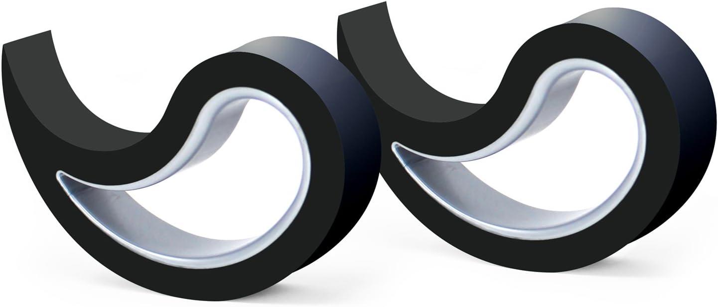 Stoppy Tope de Puerta/Ventana Juego de 2 Asequible en 14 Colores (Negro)