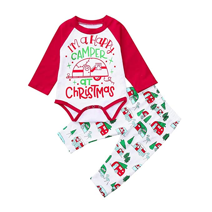 2a6042ee3 Amazon.com  KONFA Toddler Newborn Baby Boys Girls Christmas Clothes ...