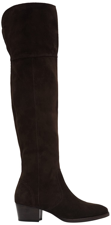 FRYE Women's Clara OTK Leather Slouch Boot B018YLY61A 6.5 B(M) US|Chocolate