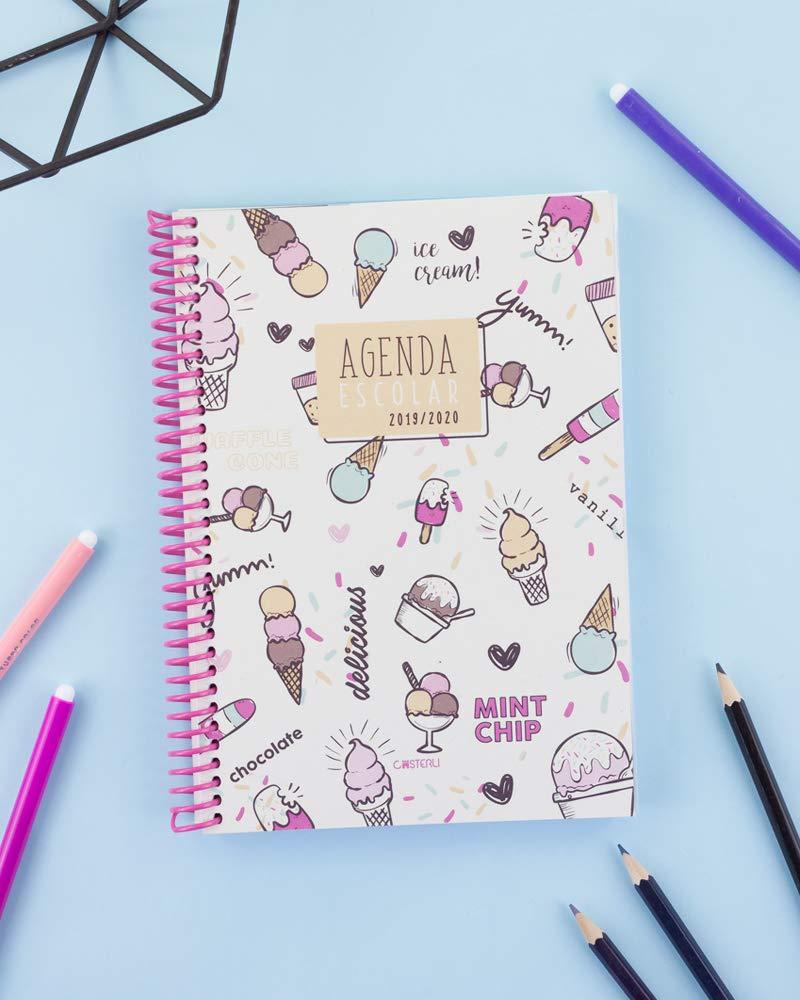 Casterli - Agenda Escolar 2019-2020 Have Fun - Día Página, Tamaño A5 (Ice Cream)
