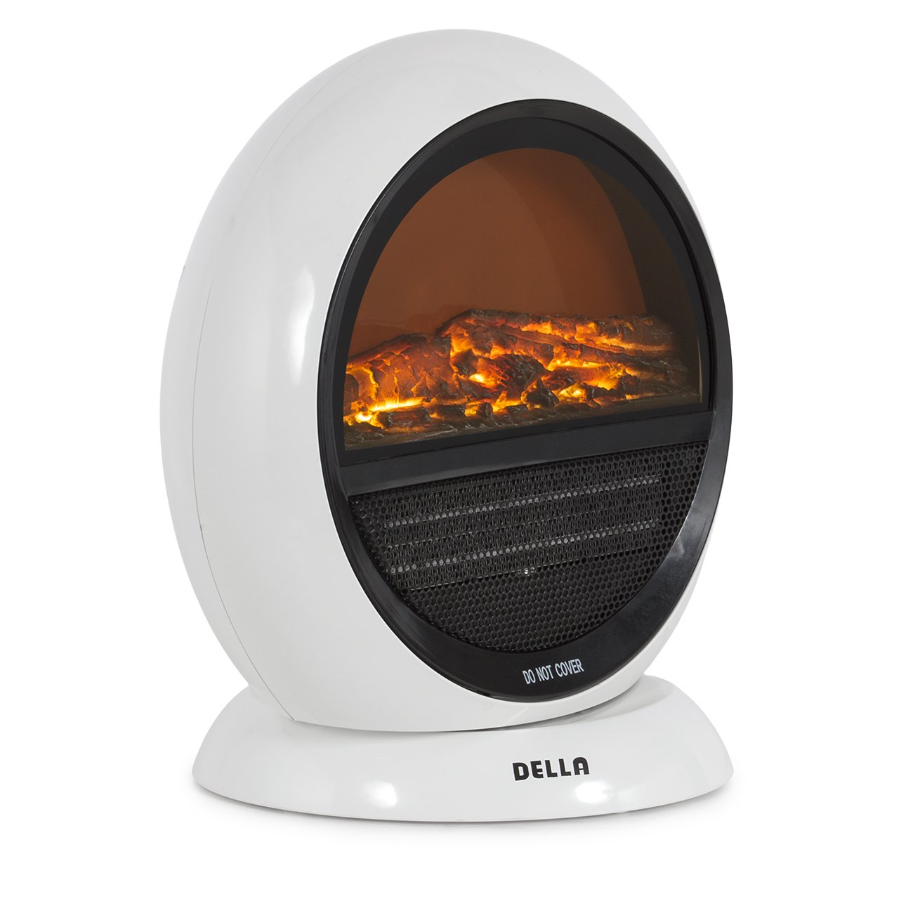 Amazon.com: Della 1500W Freestanding Electric Fireplace With 3D Flame Effect,  Oscillating, White: Home U0026 Kitchen