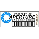 Asset Tag - Property of Aperture Laboratories