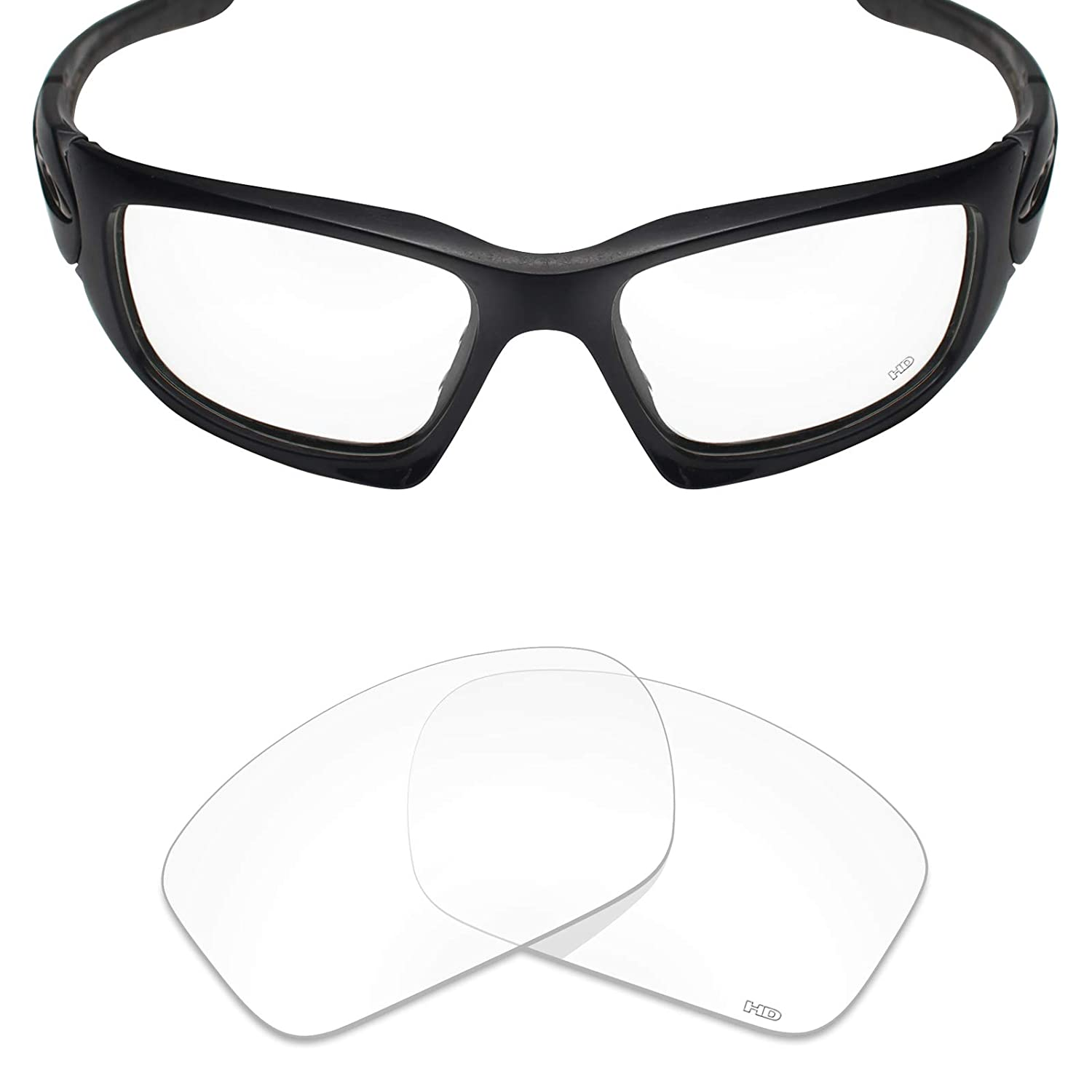 c567788cfb6 Amazon.com  Mryok+ Polarized Replacement Lenses for Oakley Scalpel - HD  Clear  Clothing