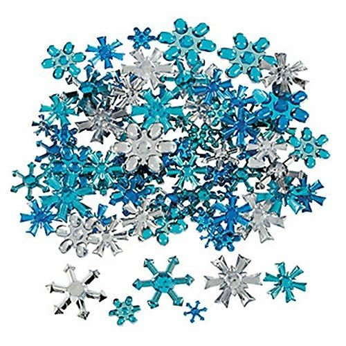 Plastic Jewels - Snowflakes, approx. 150/pk