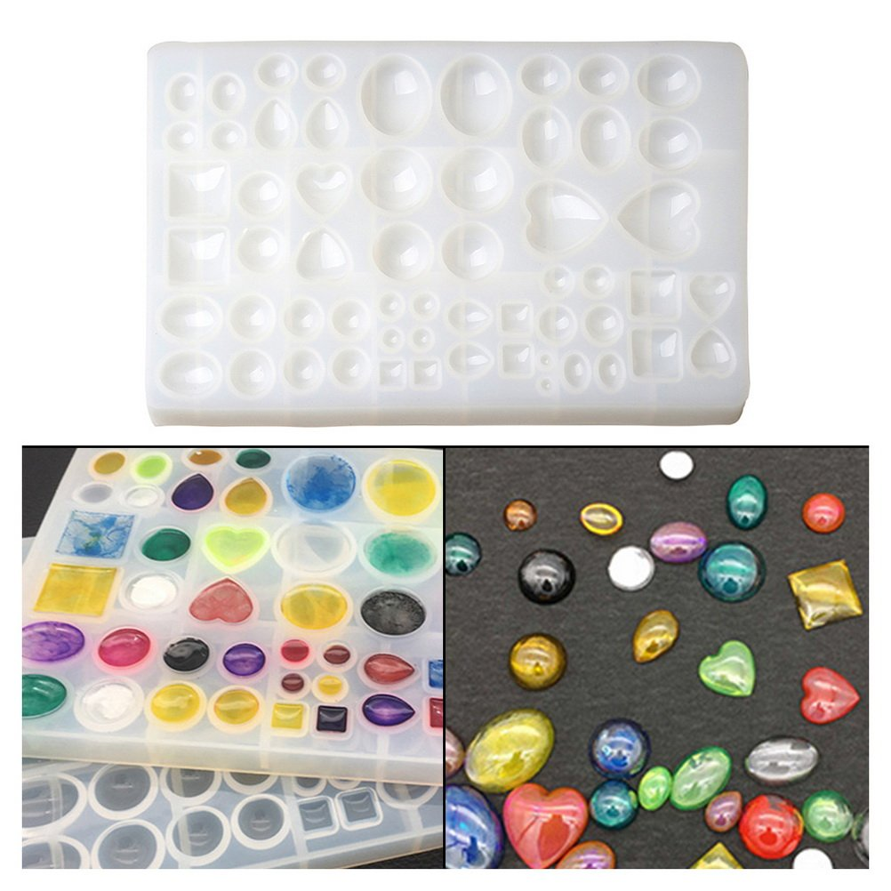 Jewelry Casting Molds, EUBags silicone cabochon earring mold epoxy pendant mold resin gem molds for polymer clay jewelry