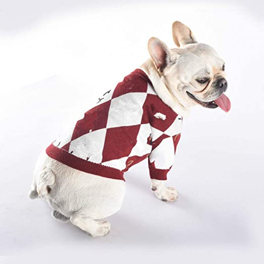 FORMEG Ropa De Perro Mascotas Suéter para Perros Bulldog Francés Camisa Suéter para Perros Sport Retro Chihuahua Cat Shirt Ropa para Mascotas Ropa Perro Puppy Dog Pugs: Amazon.es: Productos para mascotas