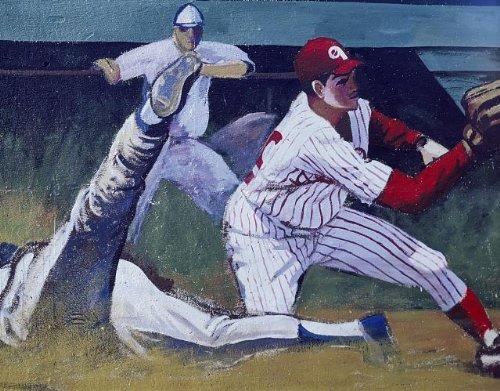 (HistoricalFindings Photo: Photo of Phillies Mural,Philadelphia,Pennsylvania,PA,Baseball,America,Highsmith)