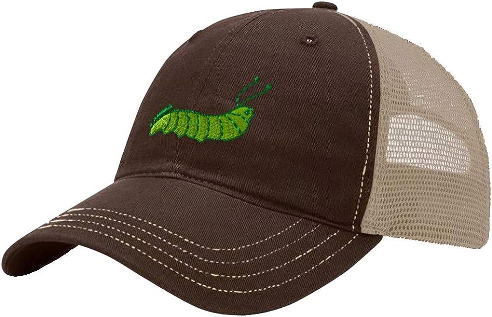 Custom Trucker Hat Richardson Caterpillar Embroidery Animal Name Cotton Snaps