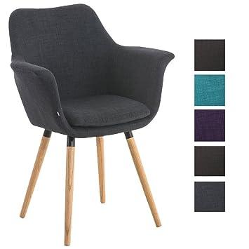 Esszimmerstühle Mit Armlehne clp besucher stuhl vance holzgestell stoff bezug polsterstuhl mit