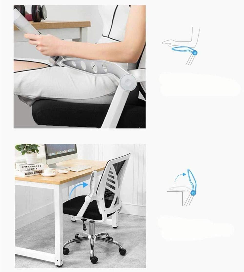 Barstolar THBEIBEI Kontor Cahir spelstol datorstol uppgift skrivbordsstol mellanrygg nätstol hem studierum stol roterande räcke vikt 150 kg (färg: Orange) BLÅ