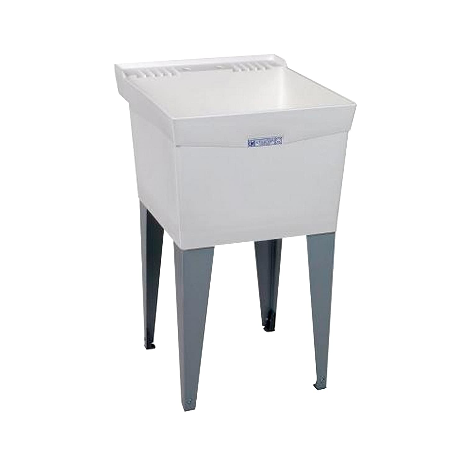 Mustee 19F Utilatub Laundry Tub Floor Mount, 24 Inch X 20 Inch, White: Utility  Sinks: Amazon.com: Industrial U0026 Scientific