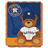 MLB Houston Astros Field Woven Jacquard Baby Throw Blanket, 36x46-Inch