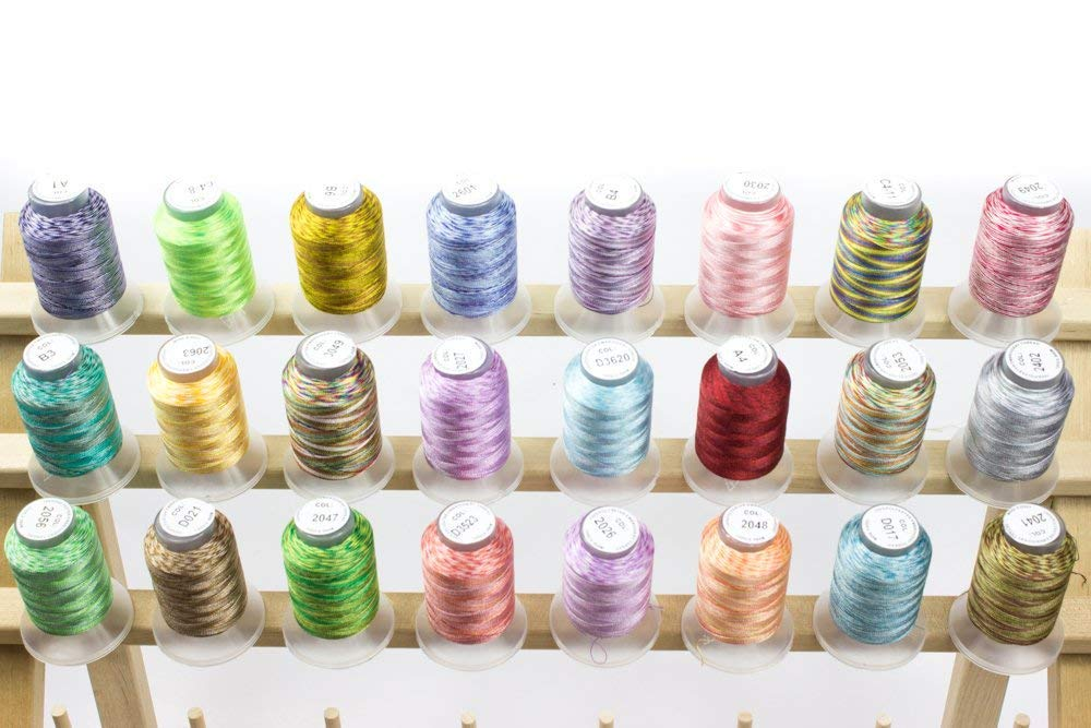 Embroidex 24 Spools Variegated Embroidery Machine Thread by Embroidex