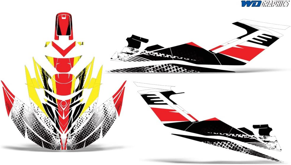 Wholesale Decals Jet Ski Graphics kit Sticker Decal Compatible with Sea-Doo GTI 2006-2010 Reaper V2 Red