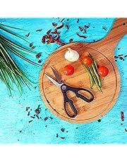 مقص مطبخ 3 في 1 من رويال فورد - مقص متعدد الاغراض من الستانلس ستيل للاستخدام المنزلي والمطبخ للدجاج والسمك واللحم والخضروات والأعشاب والزهور - مقص متكامل، يعمل ككسارة بندق وفتاحة علب