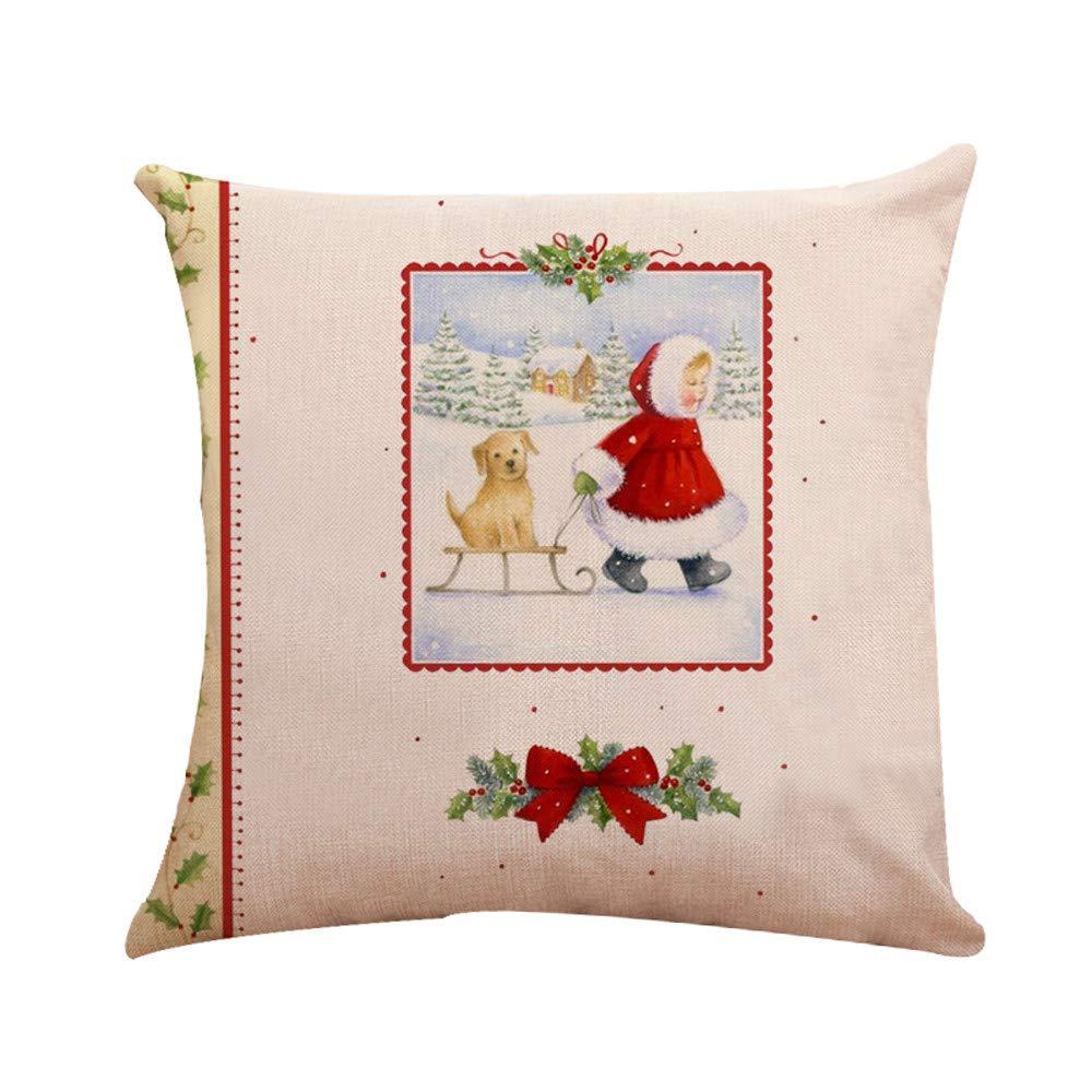 Pgojuni 1枚 クリスマスコットン枕カバー リネンクッションカバー メリークリスマス ホームデコレーション ソファ ウエストクッションカバー ソファ 45X45cm/カウチ Pgojuni 1枚 45X45cm 45cm*45cm B07JL21QJN C, Z-CRAFT:5d1be0b9 --- cgt-tbc.fr