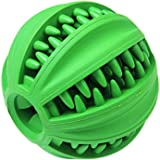 Dog Ball Toys for Pet Tooth Cleaning Chew IQ Treat Ball Food Dispensing Toys of Non-Toxic Soft Rubber Ball For Dogs and Cat