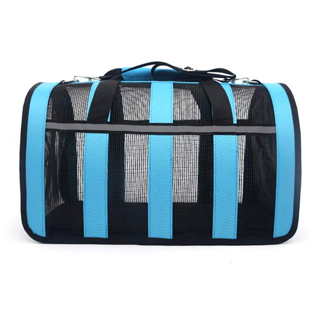 QNMM SoftSided Pet Travel Carrier, Portable Breathable Folding Mesh Bag Pet Cage per cani esterni