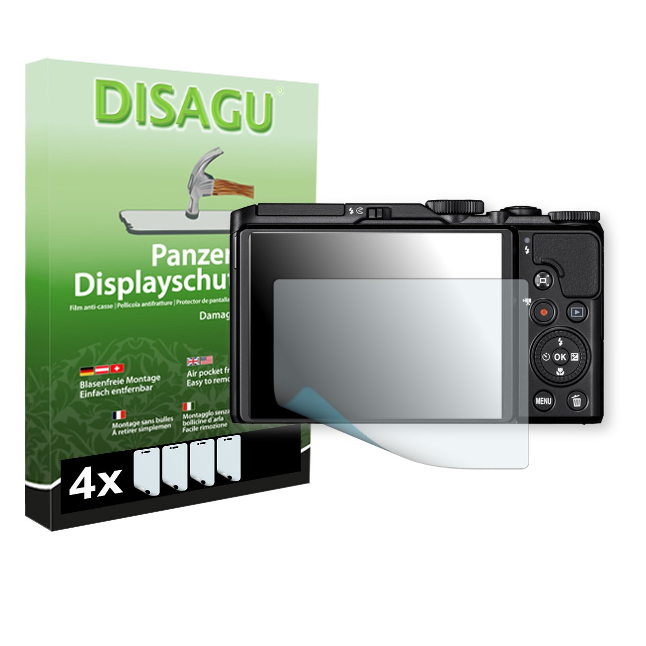 4 x DISAGU Armor screen protector for Nikon COOLPIX A900 screen fracture protection film