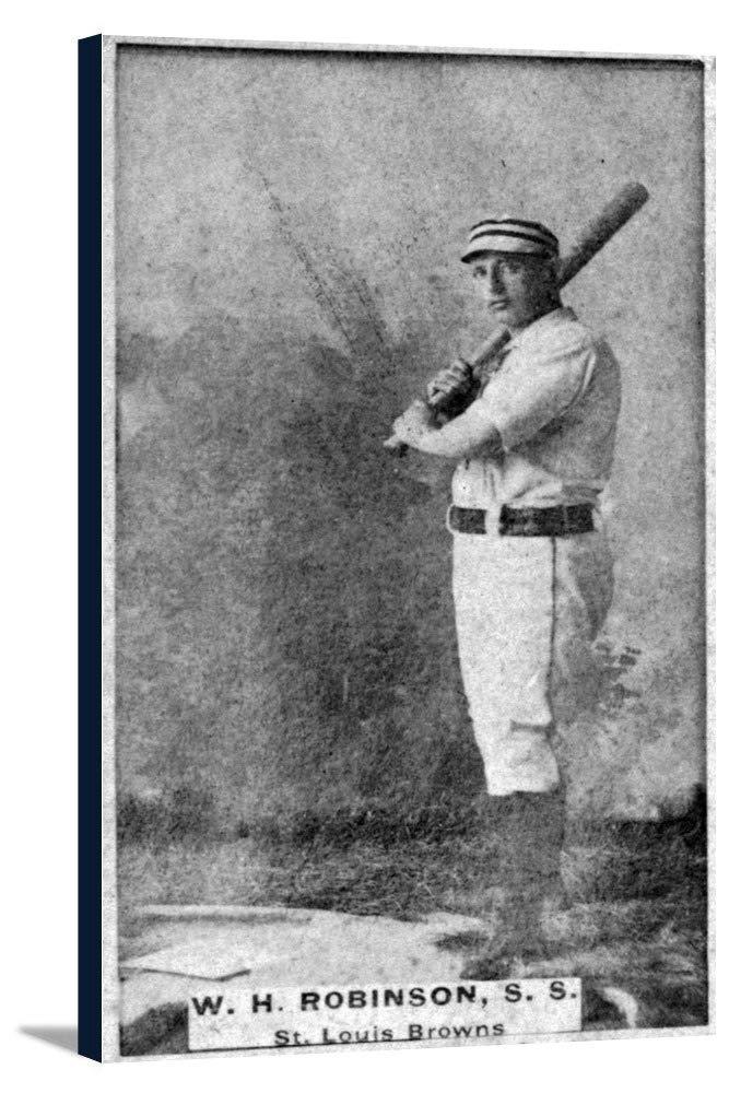 セントルイスBrowns – W Hロビンソン – 野球カード 20 1/2 x 36 Gallery Canvas LANT-3P-SC-23089-24x36 20 1/2 x 36 Gallery Canvas  B0184AP4DA