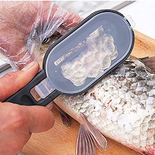 Samoii Fish Scaler Knife 2PC Practical Fish Scale Remover Scaler Scraper Cleaner Kitchen Tool Peeler for Home