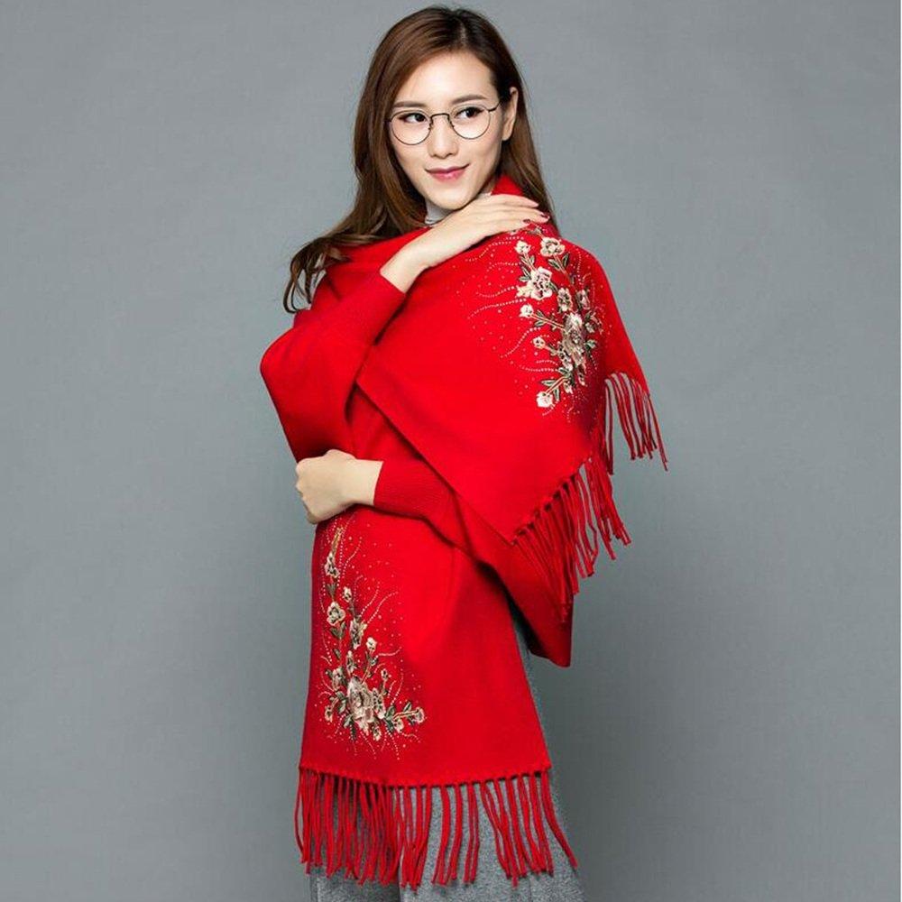 Bufanda HAIZHEN Elegante de moda Capa de sastre borla capa abrigo chal más gruesa de otoño e inviern...