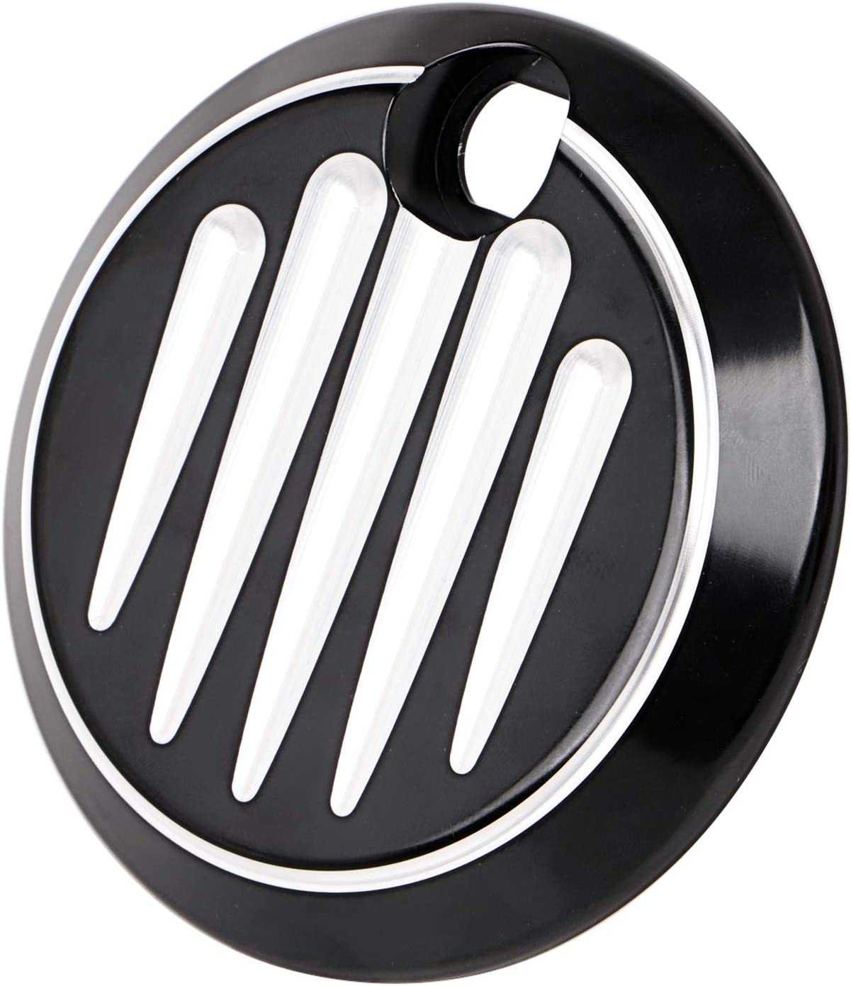 Road King FLHR Three T CNC Gas Tank Fuel Door Cover Cap Compatible with Harley Touring Electra Glide FLHT Road Glide FLTR 1992-2007 Street Glide FLHX