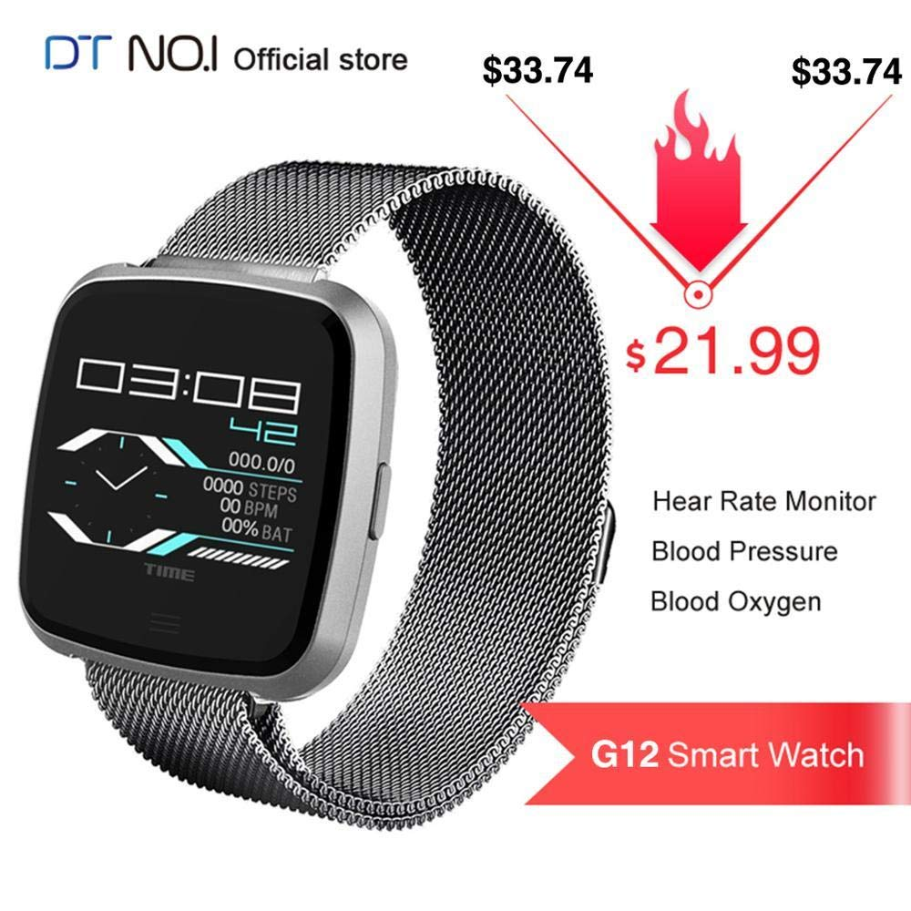 Amazon.com: DT NO.1 G12 Smart Watch Heart Rate Monitor Blood ...