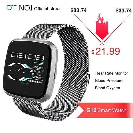 Amazon.com: DT NO.1 G12 reloj inteligente con monitor de ...