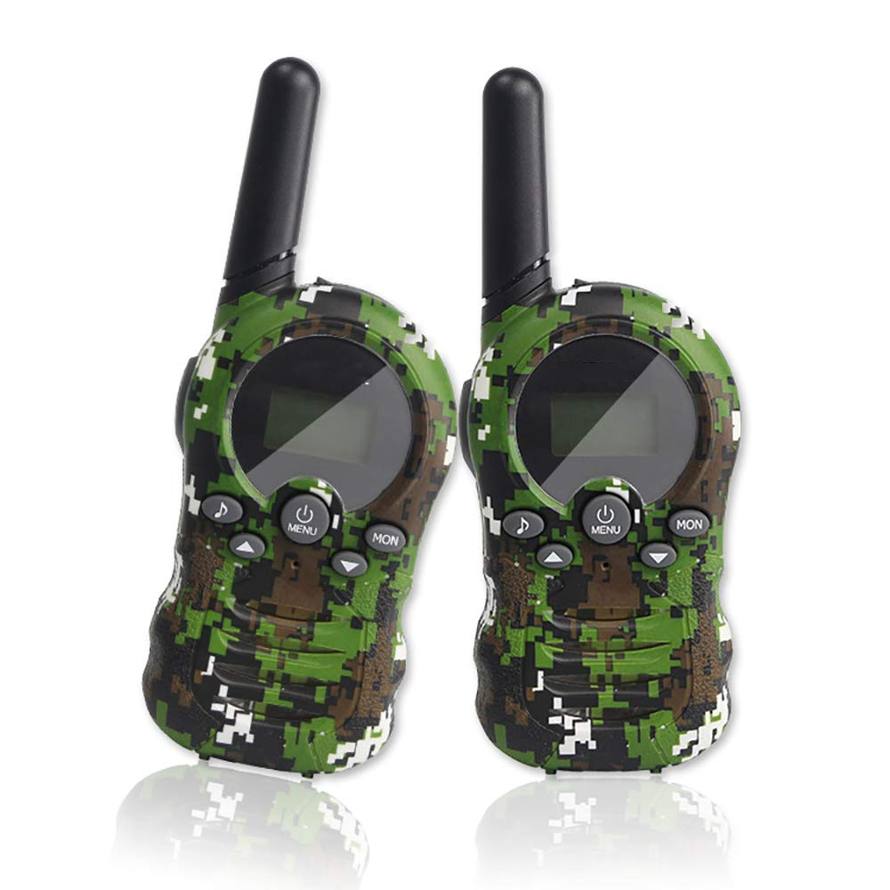 ZYLFN Walkie Talkies 2 Pack, Upgraded Version Camouflage Exterior 2 Way Radio Toys, 3 Miles Range for Kids Indoor Outdoor Activity for Children Gifts,2