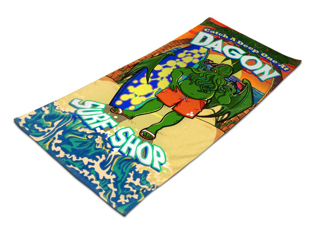 Toy Vault TYV12034 Cthulhu Dagon Surf Shop Beach Towel Board Game Toy Vault Inc.