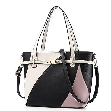 fbfa5fa033 Kintaz Women Lady Girl Fashion Artificial Leather Color Block Purses and Handbags  Shoulder Bags Top-