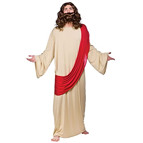 (O) Mens Jesus Costume for Christmas Nativity Panto Fancy Dress Mans Male  sc 1 st  Amazon UK : jesus costumes homemade  - Germanpascual.Com