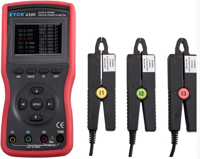 ZGQA-GQA 小さな先端電流クランプ三相メーターデジタルボルトアンペアメーターAC電圧電流テスター検出ETCR4300精密機器の測定