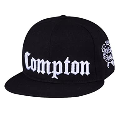 56d91ac17c7 Trendy Fashion Personality Compton Snapback Youth Hip-hop Flat Brimmed Men  Tide Hip-hop Hip-hop Training Performance Cap Female Baseball hat