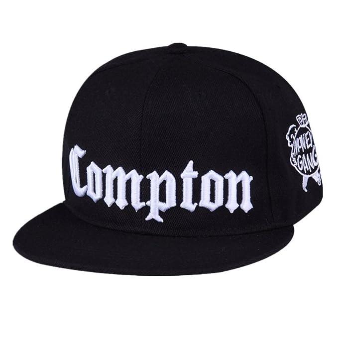 Moda Moda Personalidad Compton Snapback Juventud Hip-Hop Plano Brimmed  Hombres Marea Hip-Hop Hip-Hop Entrenamiento Gorra de Béisbol Femenino  Sombrero 7bc25705a45