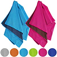 Vancle Cooling Towels 2 PACK, Cooling Towel for Instant Cooling Relief in Hot Environment, Ice Towels Stay Cool for Sports and Fitness