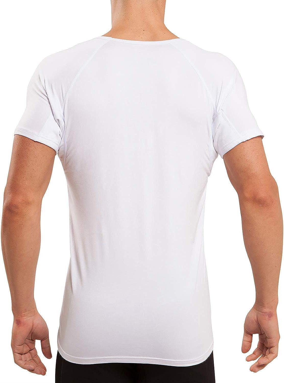 White V-Neck Micromodal Sweatproof Anti Sweat Undershirt for Men