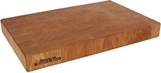 product image for 12 x 18 x 1.75 End Grain Cherry Breadboard & Butcher Block - Handmade in USA - Self-Healing - Knife Stays Sharper Longer - Juice Grooves and Indented Handles - Free Rubber Feet Included