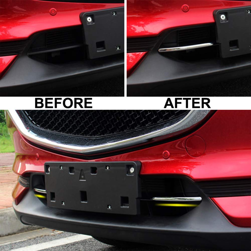 Yueng ABS Chrome Car Front Bottom Grill Grille Decorative Cover Trim 2-pack
