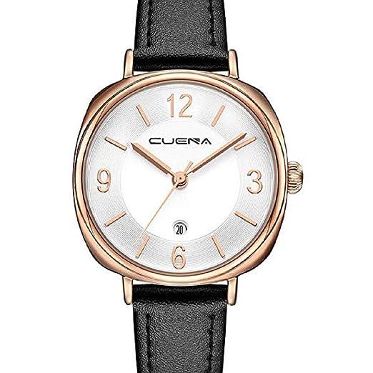 Scpink Relojes de Cuero para Mujeres, Liquidación Relojes análogos Simples para Dama Relojes Femeninos a