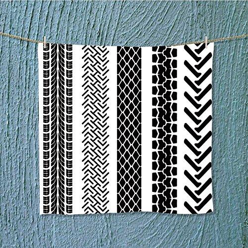 (L-QN enduracool towel detailed tire prints vector Soft & Absorbent W19.7 x W19.7)