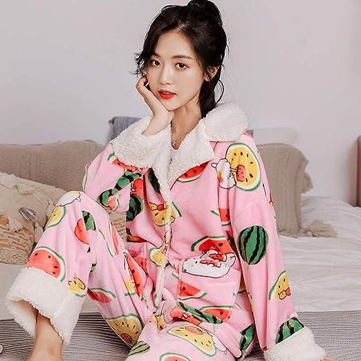 Bayrick Pijama Mujer Algodon Invierno,Otoño e Invierno Coral ...