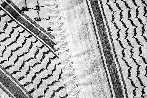 Hirbawi Premium Arabic Scarf 100 Cotton Shemagh Keffiyeh