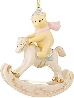 lenox disney 2016 pooh babys 1st christmas ornament first rocking horse