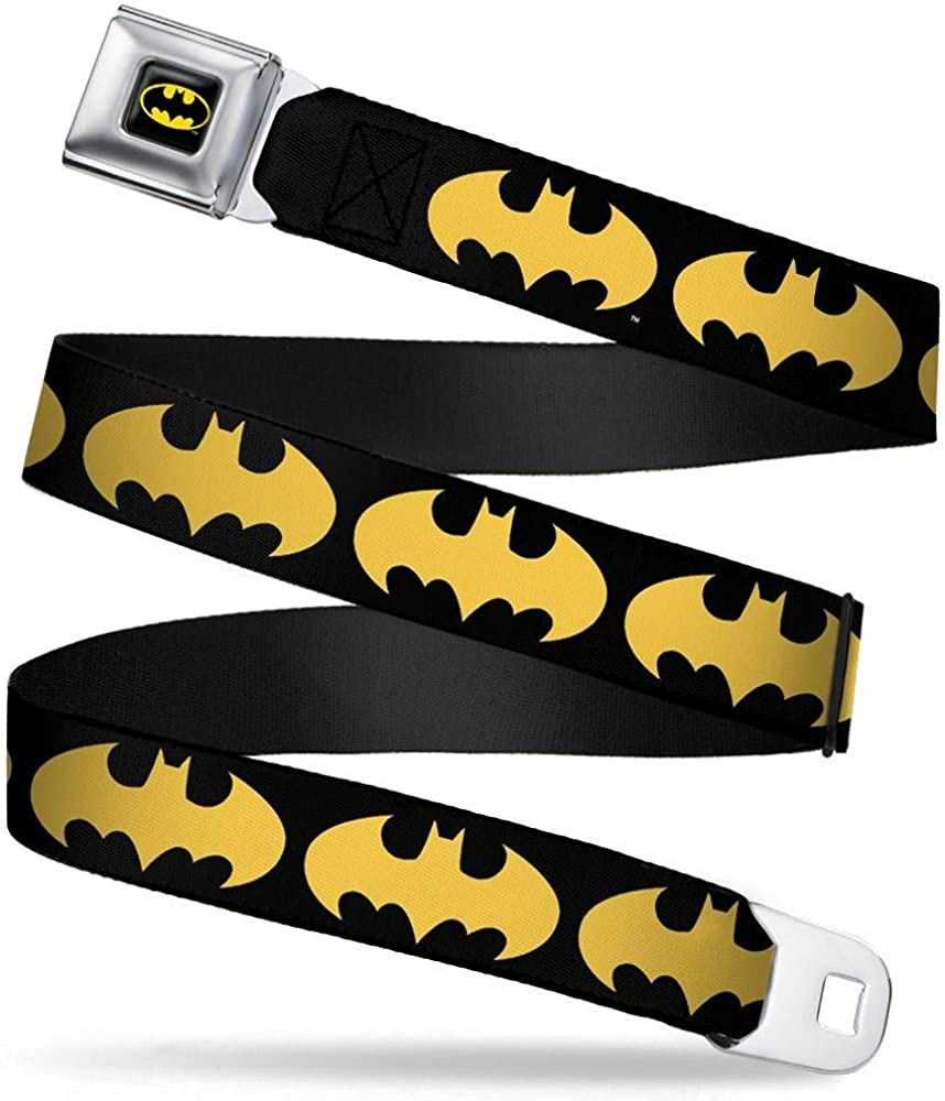 Bat Signal-1 Black//Yellow Buckle-Down Seatbelt Belt 32-52 Inches in Length 1.5 Wide