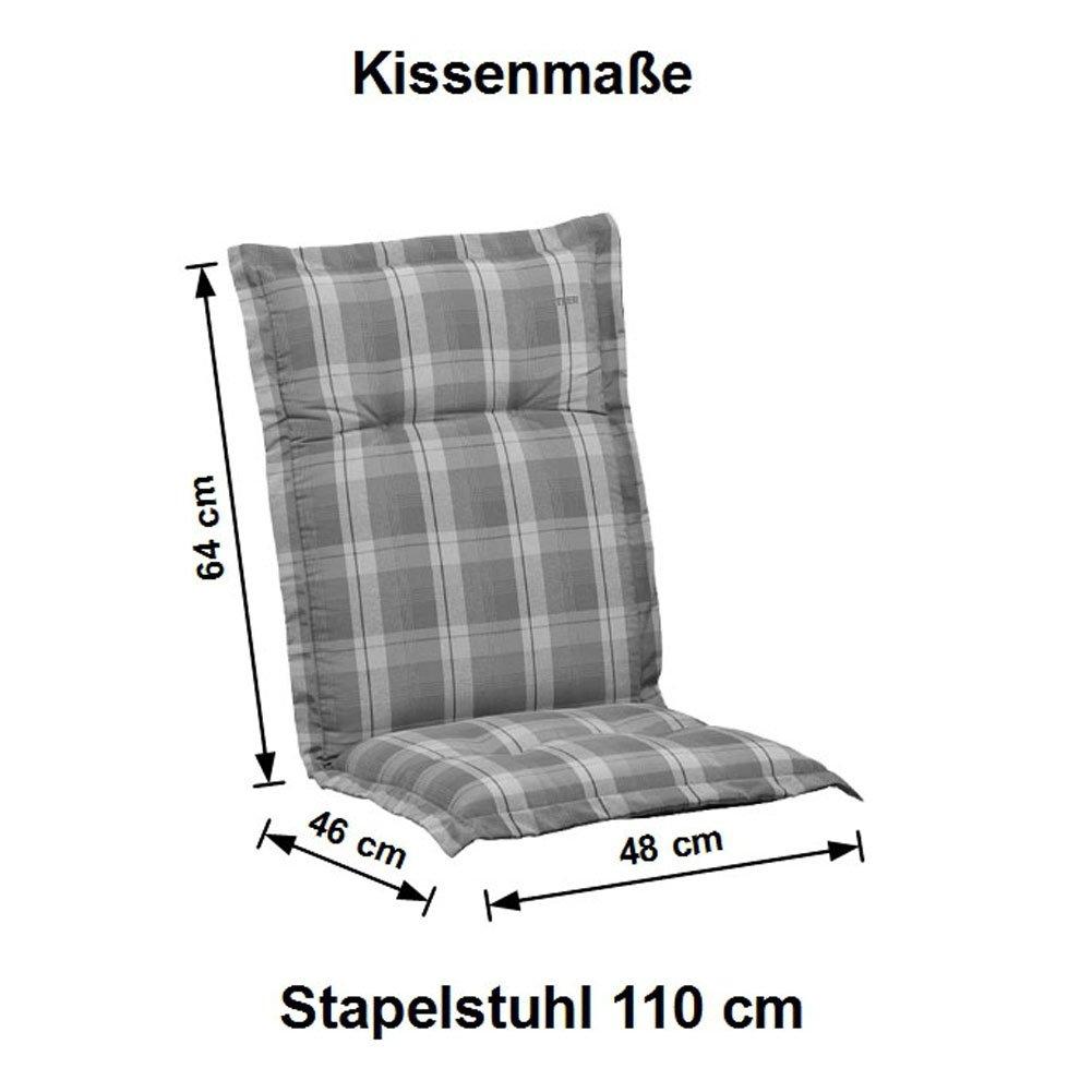 Amazon.de: 4 Auflagen für Stapelsessel Gartenmöbel Kettler Dessin ...